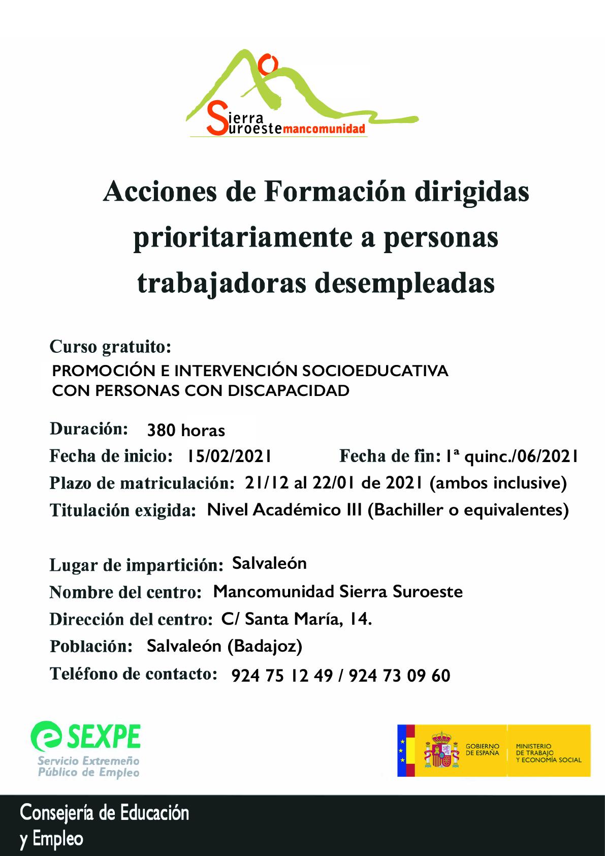 El Nuevo Curso De Atencion Sociosanitaria A Personas Dependientes En Instituciones Sociales De La Mancomunidad Se Desarrollara En Oliva Oliva De La Frontera
